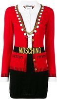 Moschino illusion knitted dress - women - Cotton - 38
