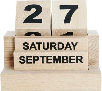 House Doctor - Wooden Calendar - wood   natural - Natural/Natural