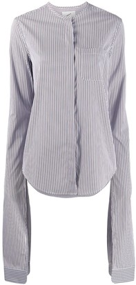 Coperni Extra Long Sleeve Striped Shirt