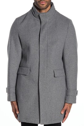DKNY Dorian Funnel Neck Coat