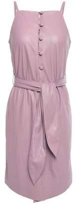 Nanushka Zema Belted Vegan Leather Mini Dress