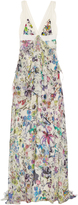 Roberto Cavalli Astro Garden-print silk-georgette gown