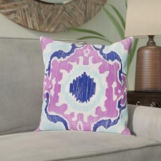 "Bungalow Rose Ayaan Cotton Pillow Cover Size: 18"" H x 18"" W x 1"" D, Color: Mint/Emerald/Butter"