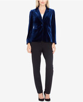Tahari Asl Velvet One-Button Blazer, Regular & Petite