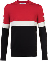 Givenchy star patch paneled jumper - men - Cotton/Polyester/Wool - S