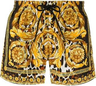 Versace baroque print beach shorts