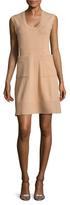 Balenciaga Scoopneck Knit A-Line Dress