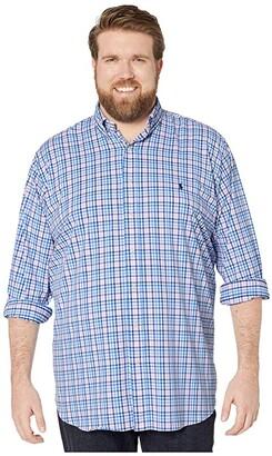 Polo Ralph Lauren Big & Tall Big Tall Long Sleeve Long Sleeve Performance Woven (Pink/Blue Multi) Men's Long Sleeve Button Up