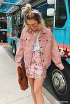 Forever 21 Satin Floral Mini Skirt