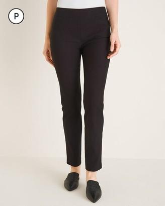 So Slimming Petite Brigitte Geometric-Print Slim Ankle Pants