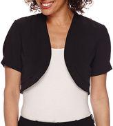 R & K Originals R&K Originals Short-Sleeve Knit Bolero Jacket
