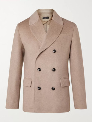 Kiton Double-Breasted Cashmere Peacoat