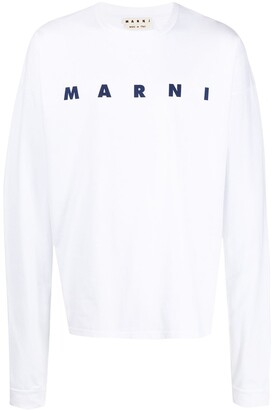 Marni logo-print long-sleeve T-shirt