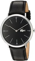 Lacoste Men's Quartz Stainless Steel and Leather Casual Watch, Color:Black (Model: 2010873)