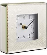 John Lewis Jazz Glass Square Mantel Clock, Gold