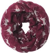 Lina & Lily Horse Print Women's Infinity Loop Scarf