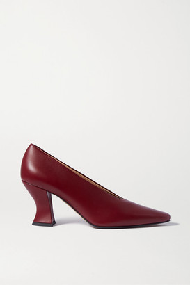 Bottega Veneta Almond Leather Pumps - Burgundy