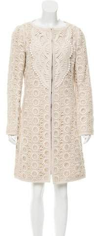 Andrew Gn Lace Collarless Dress