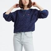 Levi's Cotton Leopard Print Sweatshirt with Crew Neck