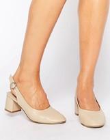 Asos STARLIGHT Leather Mid Heels
