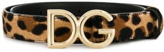 Dolce & Gabbana Logo Buckle Belt
