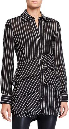 Finley Jenna Sequin Stripe Shirt