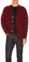 Acne Studios Neve Face Cardigan in Red.