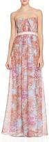 BCBGMAXAZRIA Strapless Floral Gown - 100% Exclusive
