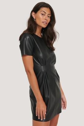 NA-KD Soft Pu Marked Waist Dress