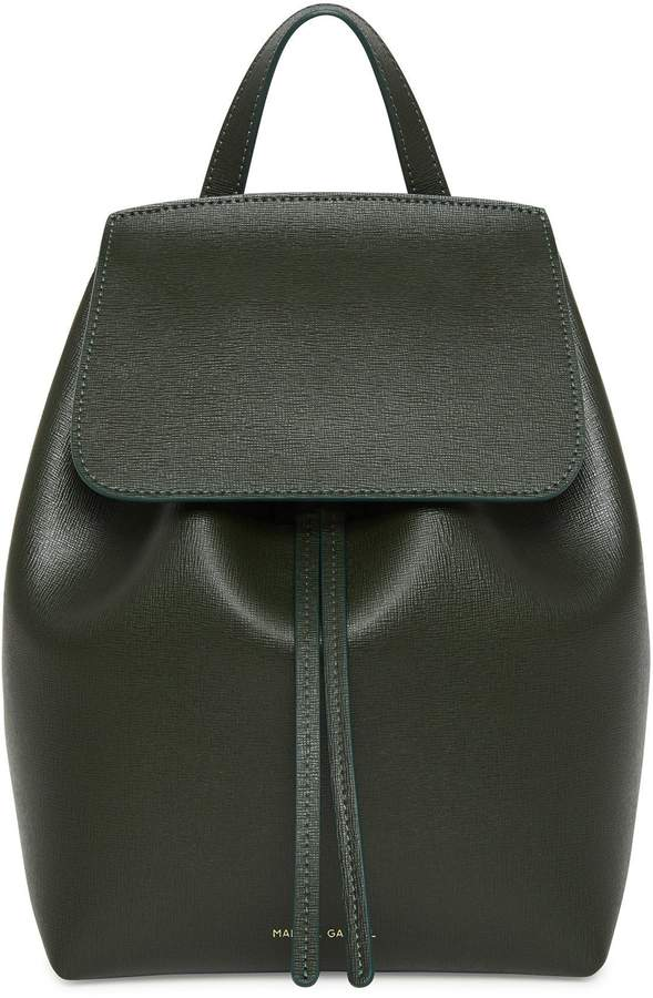 Mansur Gavriel Saffiano Mini Backpack - Moss
