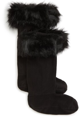 Hunter Faux Fur Cuff Boot Sock - Tall