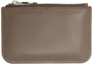 Ami Alexandre Mattiussi Grey Leather Card Holder