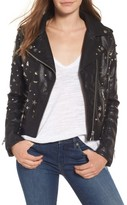Blank NYC Women's Blanknyc Studded Faux Leather Moto Jacket