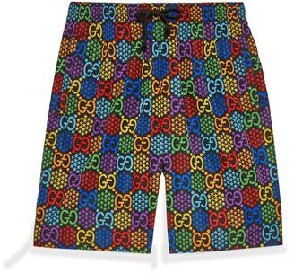 Gucci GG Psychedelic print swim shorts