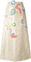 DELPOZO jacquard A-line skirt - women - Cotton/Linen/Flax/Polyamide/Polyester - 38