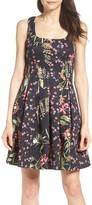 French Connection Women's Bluhm & Botero Fit & Flare Dress