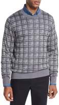 Brioni Cashmere-Silk Box Jacquard Sweater, Light Gray
