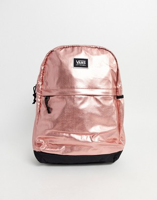 Vans Pep Squad Backpack in rose gold