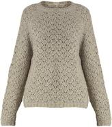 Nili Lotan Millie alpaca and silk-blend knit sweater
