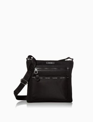 Calvin Klein Georgina Nylon Mesh Logo Crossbody Bag