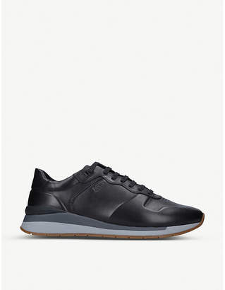 BOSS Element leather trainers