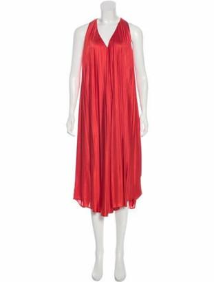 Matthew Williamson Sleeveless Midi Dress Red