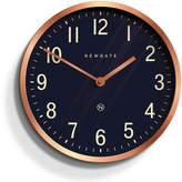 Newgate Master Edwards Wall Clock Radial Copper - Petrol Blue