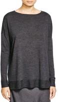 Eileen Fisher Merino Wool Boat Neck Sweater