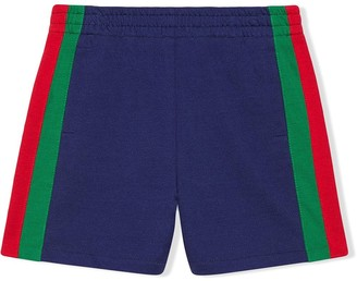 Gucci Kids Children's jersey shorts with Web