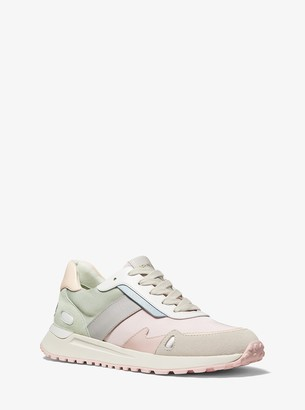 MICHAEL Michael Kors Monroe Canvas and Suede Trainer
