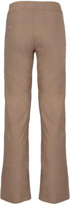 Avenue Montaigne Long Stretch Linen Wide Leg Pants