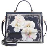 Ted Baker Gardenia Faux Leather Satchel - Blue
