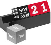 Moma NEW Cubes Red, Grey and Black Perpetual Calendar