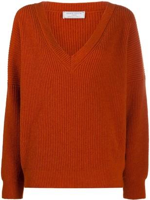 Societe Anonyme ribbed knit V-neck jumper